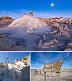 The Bisti Egg Garden is an unusual, atypical and accessible rock formation located in the Bisti Wilderness Area near Farmington, New Mexico. Though other famous rock formations have achieved fame for their size and scenic beauty, the Bisti Egg Garden proves that even in geology, good things come in small packages.