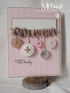 """From """"My Paper Obsession""""  Melissa made the cutest little button banner!"""