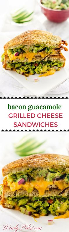 Bacon Guacamole Grilled Cheese Sandwich | Guacamole Grilled Cheeses ...