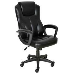 Leather Mid Back Office Chair