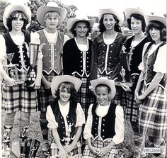 In this picture taken in 1980 in Alberta are - Back left  Dale MacDonald, Barbara Lohmann, Patti Ann MacLeod, Linda Dawe, Patricia MacEachern, Rosanna Campbell. Front- Kim Morgan and Robin Doyle. Dale MacDonald continues to teach Highland Dancing in Port Hawkesbury thirty two years after the Port Hawkesbury Highland Dancers group was started in 1973.