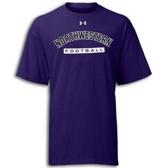 Purple Football Under Armour® Tee     This HeatGear tee delivers maximum moisture transport, keeping you cool, dry and light as temeratures rise. Comes in purple or black t-shirts.