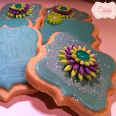 Birthday Cookies by My Cookie Couture www.mycookiecouture.com