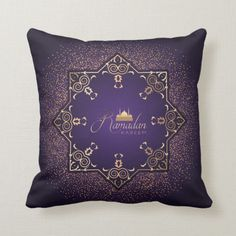 Shop Ramadan Al Adha and Fitr Throw Pillow created by SimplyLOVELYsweet. Essie, Accent Pillows, Throw Pillows, West Lafayette, Ramadan Gifts, Custom Pillows, Knitted Fabric, Knitting, Allah