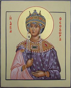St. Theodora I, the Empress of Constantinople (wife of Justinian) by Liesbeth Smulders - November 15