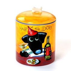 "Naylor Designs ""Hair of the Dog"" Treat Jar"