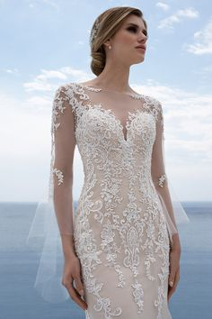 Mark Lesley Bridalwear 7394 - Mark Lesley Bridalwear Designer Wedding Dresses, Bridal Dresses, Wedding Gowns, Wedding Day, Wedding Accessories For Bride, Champagne Color, Beaded Lace, Bridal Looks, Lace Applique