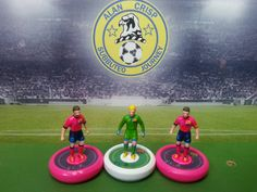 Barcelona pink kit. Hand-painted. This team is for sale. If you want any handpainted team with or without bases. E-mail me. a.c.journey@hotmail.com