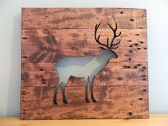 Reclaimed Wood Wall Hanging Deer 18 x 20 by theurbanupcyclers