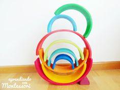 Montessori, Grimms Rainbow, Handmade Wooden Toys, Wood Toys, Challenges, Marti, Play Ideas, Kids, Inspiration
