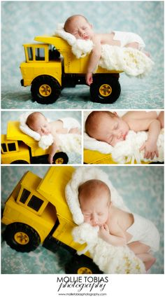 Tonka Truck New Born Picture. Ha! Danny would love if I did this