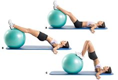 Swiss Ball Hamstring Curls — The Best Exercise You've Never Done To Build A Toned, Perky Butt [UberExercise]
