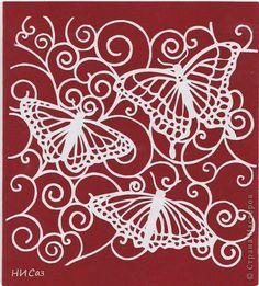 Trois papillons.