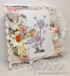 LOTV - Time Flies by Natalie Grantham Lily Of The Valley, Cute Cards, Embellishments, Stampin Up, Fairy, Throw Pillows, Handmade Cards, Birthday, Summertime