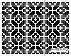 "Photo from album ""Филейные схемы"" on Yandex. Motif Fair Isle, Fair Isle Chart, Fair Isle Pattern, Knitting Charts, Knitting Stitches, Knitting Designs, Weaving Designs, Knitting Patterns, Cross Stitch Designs"