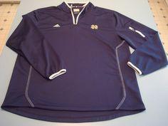 Notre Dame Irish Adidas 1/4 Zip Climalite (Blue) Coaches Jacket Men's XLarge #adidas #NotreDame Notre Dame Football, Men's Football, Notre Dame Irish, Irish Fans, Coaches, Adidas Men, Zip, Jackets, Blue