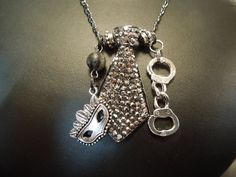 Fifty Shades of Grey Inspired Necklace by klockwerkkreations, $45.00