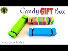 "Origami tutorial to make a Paper ""Candy Gift Box"" from single A4 sheet - YouTube"