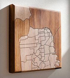 San Francisco Map Wood Art by Dave Marcoullier on Scoutmob Shoppe