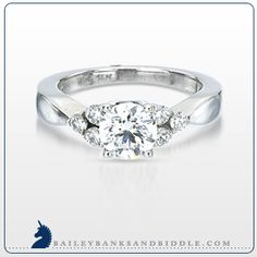 Certified Hearts and Arrows diamond enagagement ring in 18k white gold (1 1/4 carat t.w.)