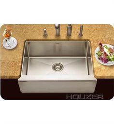 Houzer EPS 3000 Farm House Undermount Single Basin Kitchen Sink