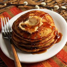 These tasty gingerbread pancakes are sure to become a new holiday breakfast tradition.