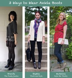 3 ways to wear booties