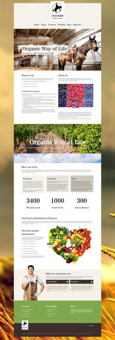 Unifarm is a agriculture WordPress Theme made for farms. #WordPress #Farm #Agriculture #Theme #Webdesign