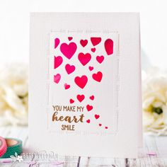 You Make My Heart Smile Card by Betsy Veldman for Papertrey Ink (December 2017)