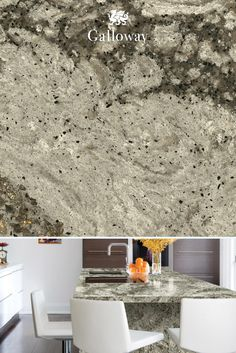 Like a luminescent pearl inside a black oyster shell, our Galloway™ design is the perfect countertop for any room.