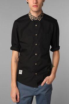 Oh my god I need this.. Civil urban outfitters cheetah print collar shirt