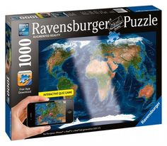 Ravensburger's 1000 piece augmented reality world satellite world map jigsaw puzzle is too cool.