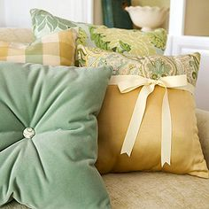 from BHG some creative pillows
