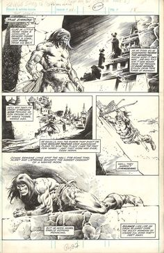 Savage Sword of Conan #53 page 22 by John Buscema and Rudy Nebres Comic Art