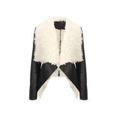 Yoins Jacket (89 BAM) via Polyvore featuring outerwear, jackets, yoins, coats, coats & jackets, faux, white jacket, white faux jacket i faux jacket