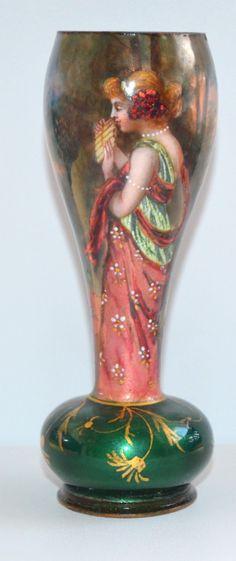 Hand Painted Germany Ceramics & Porcelain Beautiful Vintage Art Nouveau Pitcher M W Co. Creamers & Sugar Bowls