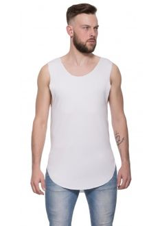 Scoop long tank white