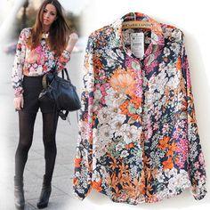 blusas florales vintage - Buscar con Google