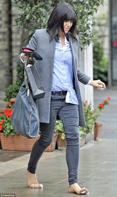 Every girl needs twinkletoes for Strictly, Claudia! Host spotted dashing from a beauty salon with cotton wool between her toes Claudia Winkleman Hair, Beautiful Outfits, Beautiful Clothes, Every Girl, Fashion Stylist, Her Style, My Girl, Style Inspiration, Style Ideas