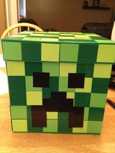 minecraft valentine's day boxes | Minecraft Creeper Valentine Box | Valentine's Day ideas