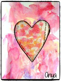 bricolage coeur, saint valentin, amour, peinture enfant
