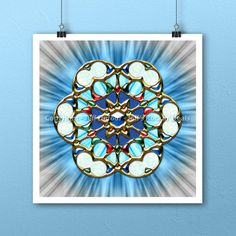 Vesica Piscis Eye Trinity Mandala Art Print by Artist Jeff Dufour 12x12 Square #Abstract