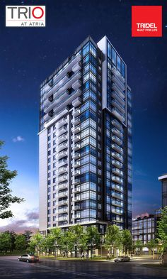 New #Toronto TRIO at Atria North York condo tower by #Tridel - sleek and modern