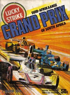 Programme Cover - GP South Africa 1975