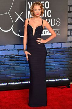 Taylor Swift in Herve Leger at the MTV VMAs 2013