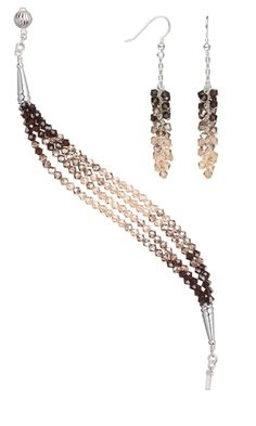 Multi-Strand Bracelet and Earring Set with SWAROVSKI ELEMENTS