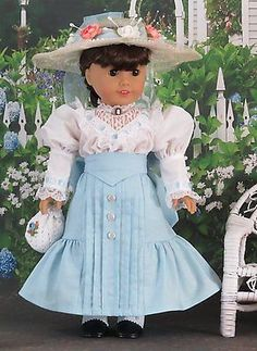 "1900s 5 pc Gibson Girl Dress Set for American Girl Samantha Rebecca 18"" Doll"