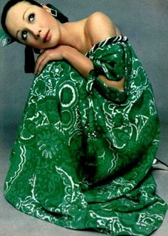Yves Saint Laurent 1968, in Pantone's 2013 color of the year - emerald. See what's hot for Spring at www.karousing.com.
