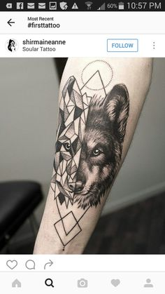 40 Wolf Forearm Tattoo Designs For Men – Masculine Ink Ideas Mens Geometrical Wolf Tattoo On Forearm Wolf Tattoo Design, Forearm Tattoo Design, Forearm Tattoos, Body Art Tattoos, Sleeve Tattoos, Wolf Tattoos Men, Animal Tattoos, Tattoo Wolf, Celtic Tattoos