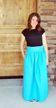 Just Another Day in Paradise: High Waist Maxi Skirt from a Sheet